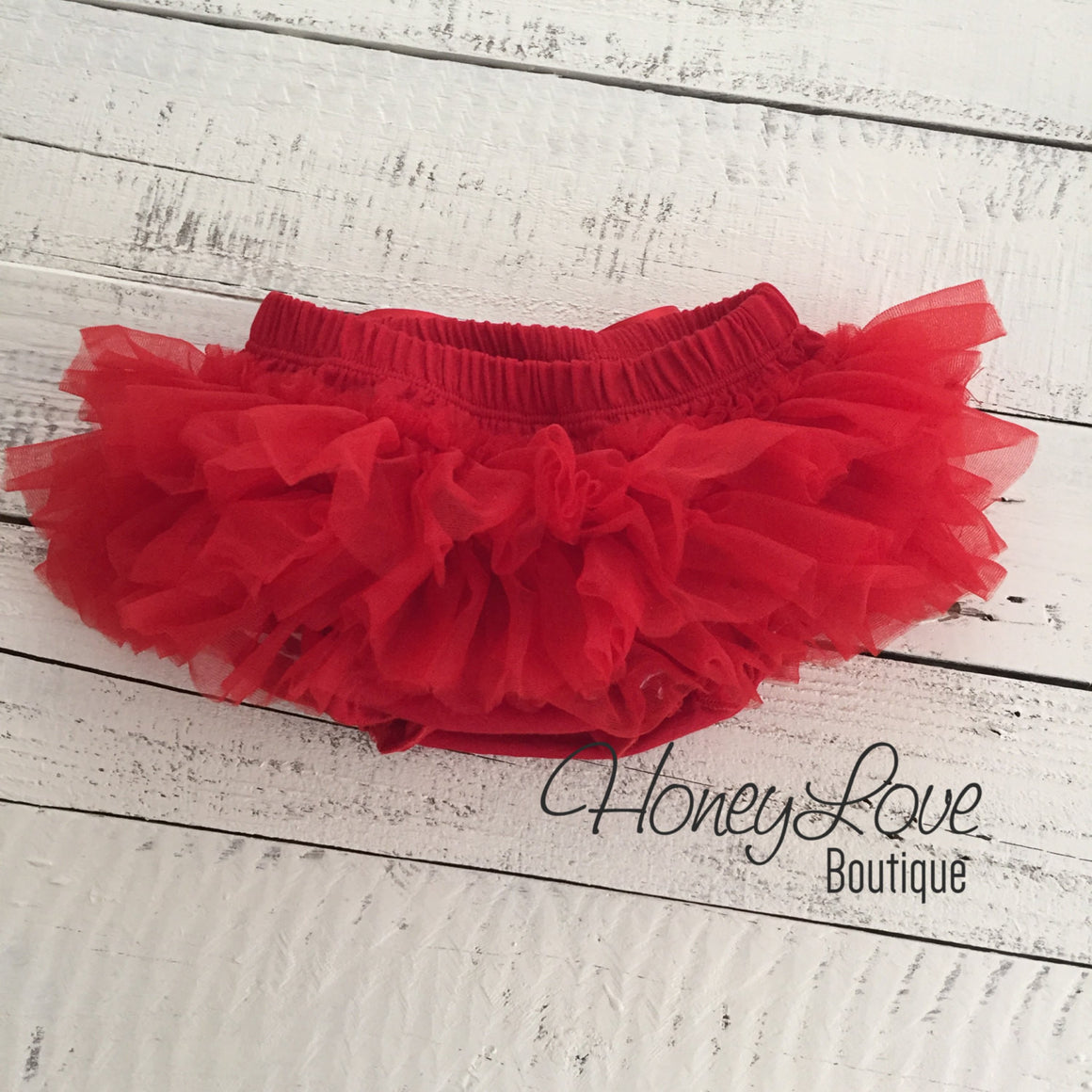 Red - Pettiskirt - Tutu Skirt Bloomer - Ruffle Bottom Bloomer