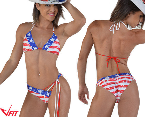 Stars and Stripes Tassel Bikini