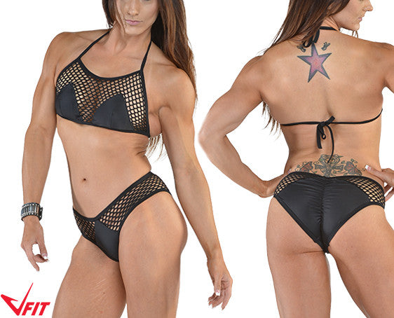 Triangle Mesh Two-Piece Bikini