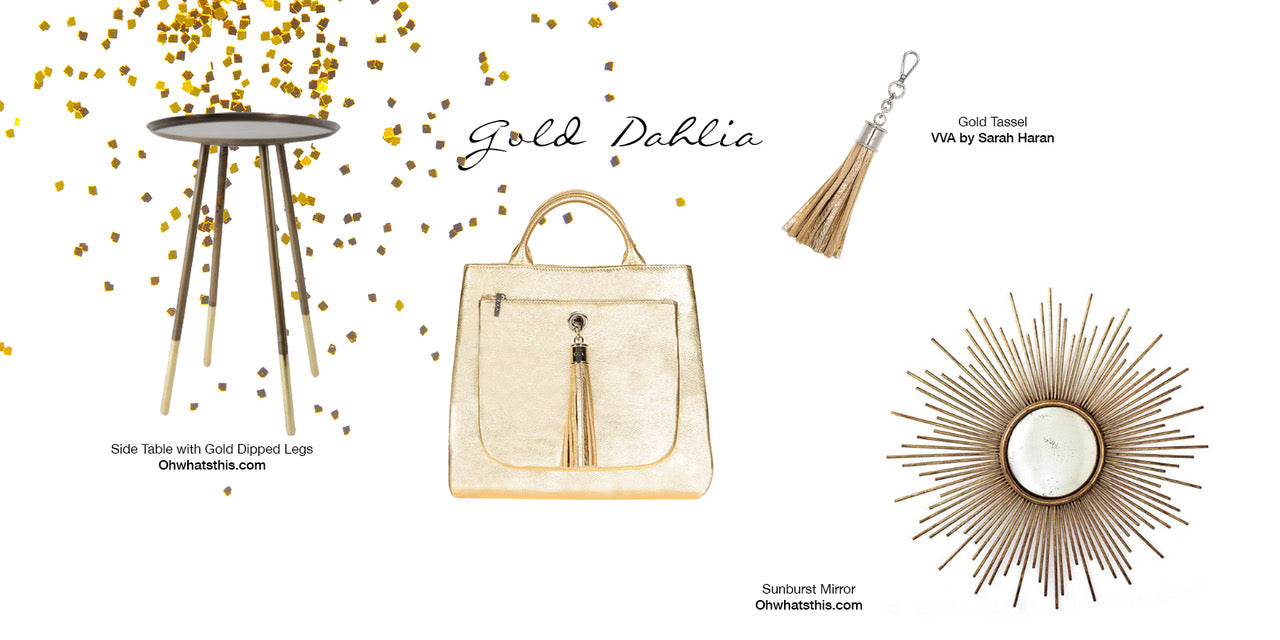 golden vibes with handbags