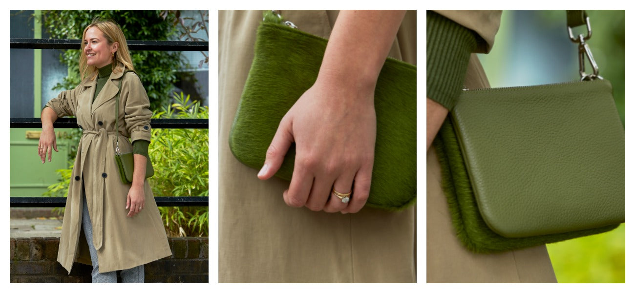 pictures of lily handbag in green