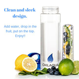 Fruit Infused Water Bottle - Blue