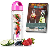 Fruit Infused water Bottle - Pink