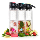 Chilaqua Active Fruit Infuser Water Bottle - Pink