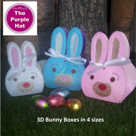 ITH 3D Bunny Treat Holder 5x7 6x10 7x11 8x12
