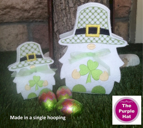 ITH 3D St Patrick's Day Gnome Treat Holder 5x7 6x10 7x11 8x12