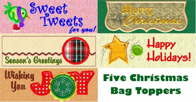 ITH Christmas Bag Toppers 5x7