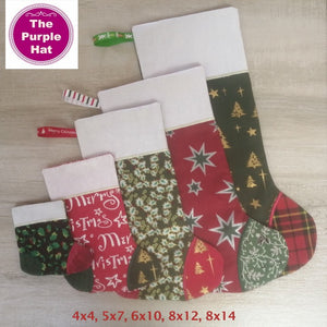 ITH Christmas Stockings 4x4 5x7 6x10 8x12 8x14