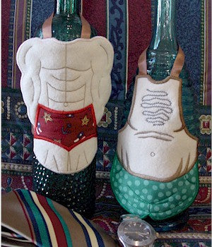 ITH Saucy Male Bottle Aprons 5x7