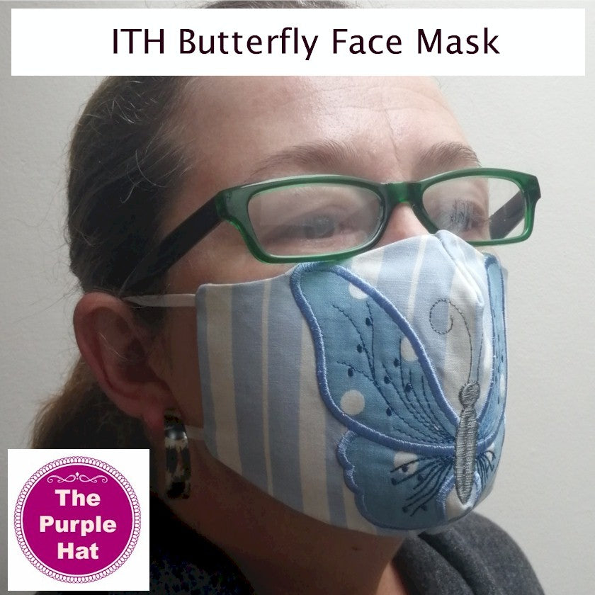 ITH Butterfly Face or Dust Mask 4 sizes 5x7 & 6x10