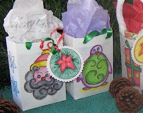 ITH Christmas Gift Bags Set 4 5x7 and 6x10