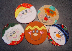 ITH Coin Purses Set 5 Christmas 4x4