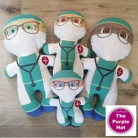 ITH Heroes: Doctor plush doll stuffed toy 5x7 6x10 8x12