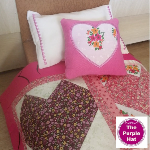 ITH Heart Bedding Set for 18-inch dolls