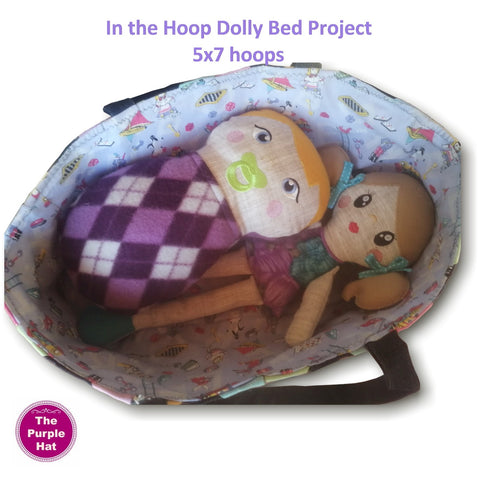 ITH In the Hoop Doll bed/carry cot project 5x7