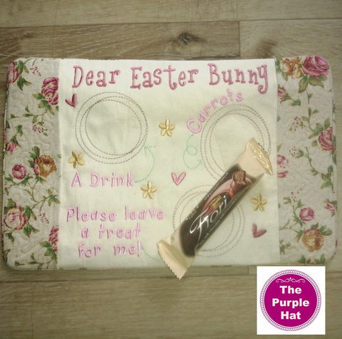 In the Hoop ITH Easter Bunny Snack Mat or Mug rug 6x10 and 8x12