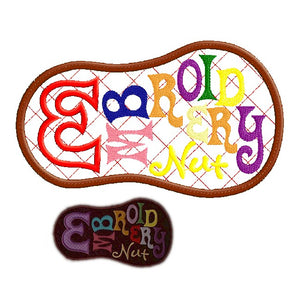 Embroidery Nut applique design - 5x7