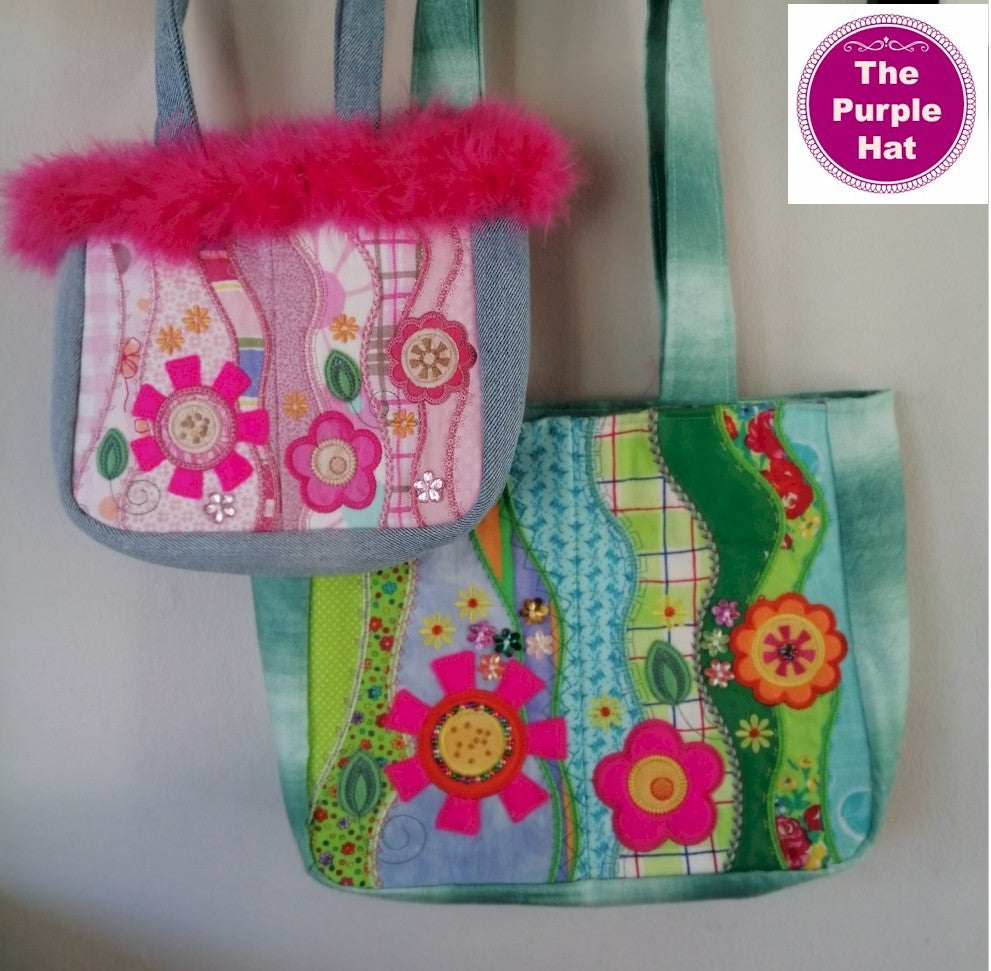 ITH Funky Flowers Bag 5x7 6x10