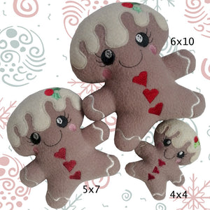 ITH Gingerbread Stuffie 4x4, 5x7 & 6x10