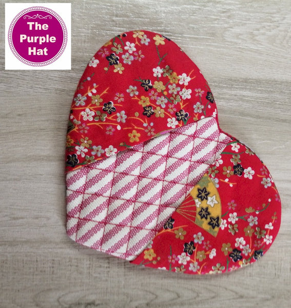 ITH Heart Shaped Oven Mitt 5x7