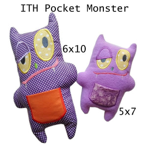 ITH Pocket Monster Stuffed toy or pillow 5x7 & 6x10