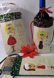 ITH Jolly Jilly Christmas Gift Bags 6x10