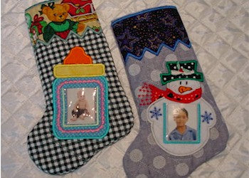 ITH Christmas Photo Stockings 6x10