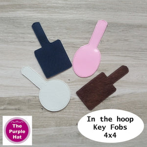 ITH Blank Key Fobs or Snap Tabs 4x4