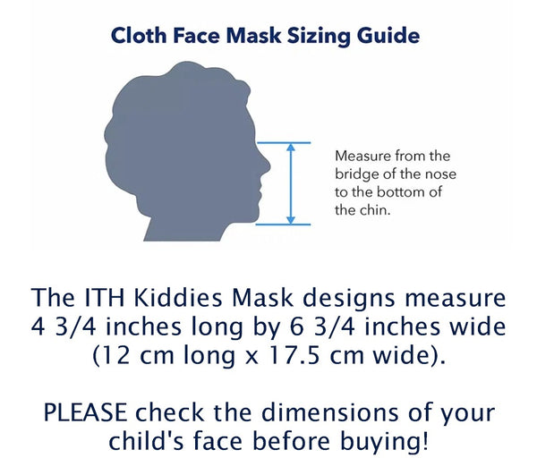 ITH Christmas Kids Face or Dust Mask 5x7