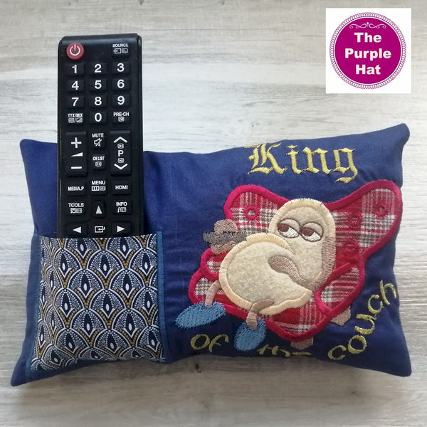 ITH King of the Couch Pillow 6x10