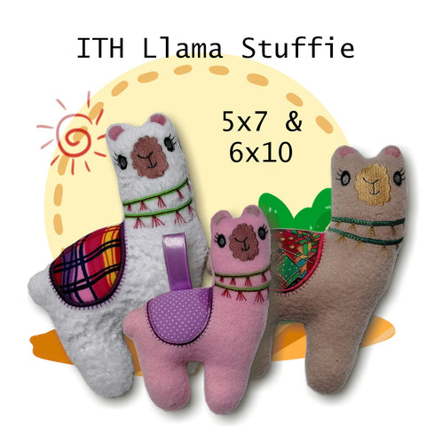 ITH Llama Alpaca Stuffed Animal 5x7 & 6x10
