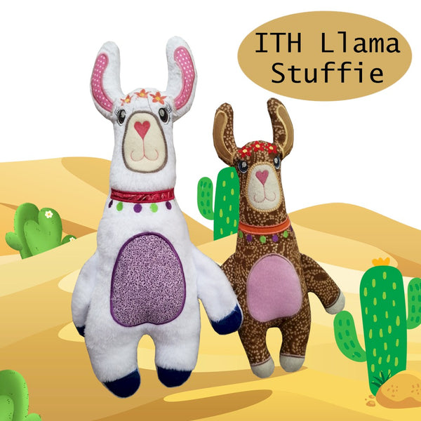 ITH Llama Alpaca Stuffed Toy 5x7 and 6x10