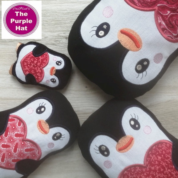 ITH Love Penguin 4x4 5x7 6x10 8x12
