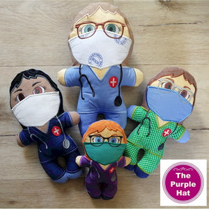 ITH Heroes: Nurse plush doll stuffed toy 5x7 6x10 8x12