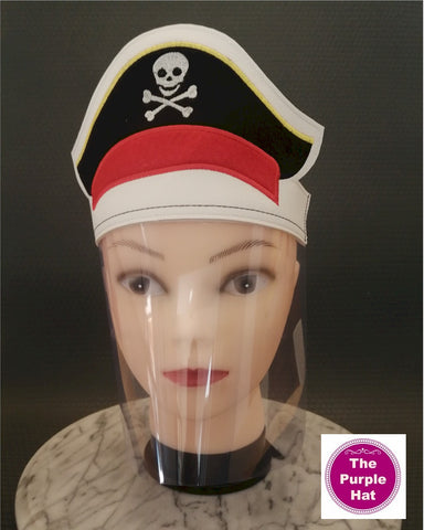 ITH Pirate Face Shield for Kids 6x10