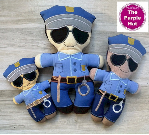 ITH Heroes: Police plush doll stuffed toy 5x7 6x10 8x12