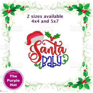 Santa Baby Applique design 4x4 and 5x7