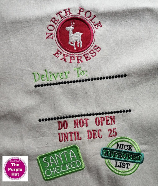 Santa Sack 03 machine embroidery design 6x10 only