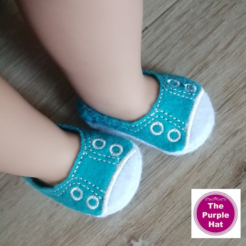 ITH Sneakers with white toe for 18 inch doll 4x4