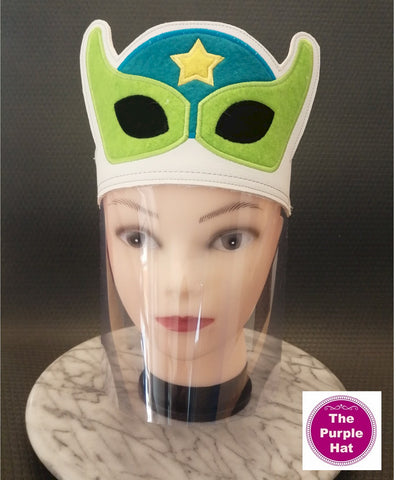 ITH Superhero Face Shield for Kids 6x10