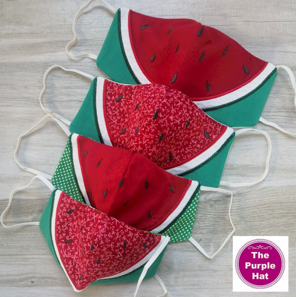 ITH Watermelon Face or Dust Mask 4 sizes 5x7 & 6x10