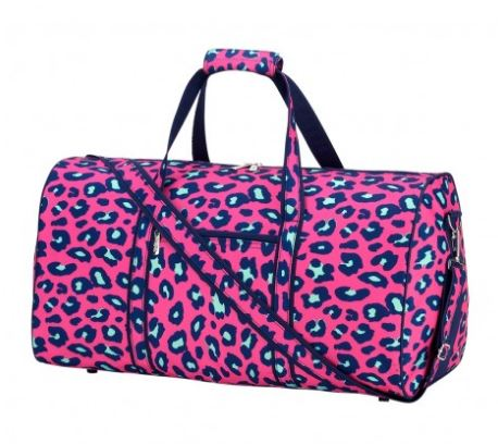 Hot Pink Leopard Duffel Bag