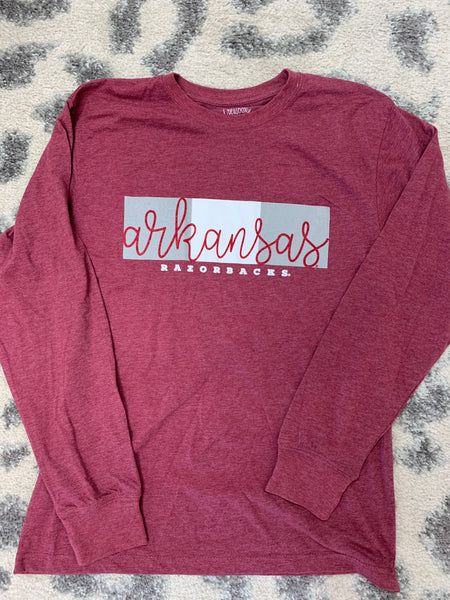 Arkansas Razorback Long Sleeve
