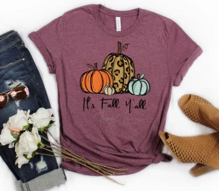 """It's Fall Yall"" ADULT T-Shirt"