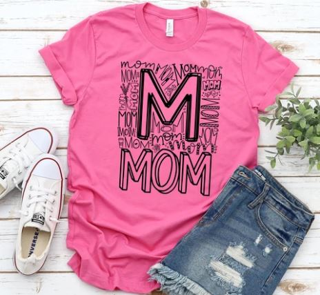 """Mom Typography"" T-Shirts"