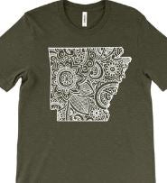 """Arkansas Mandala"" T-Shirt"