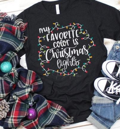 """My Favorite Color is Christmas Lights"" ADULT T-Shirt"