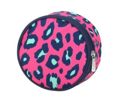 Hot Pink Leopard Jewelry Case