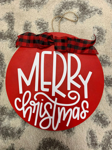Merry Christmas Door Hanging Decor