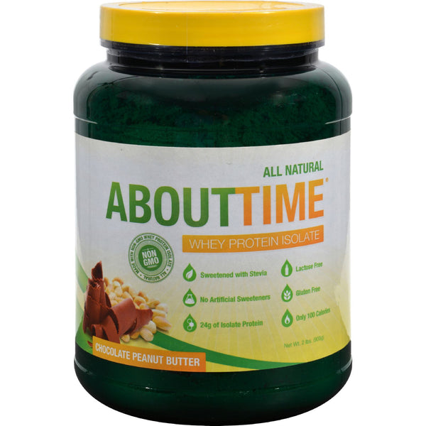 About Time Whey Protein Isolate - Chocolate Peanut Butter - 2 lb - Sports and Fitness - Nature's Batch